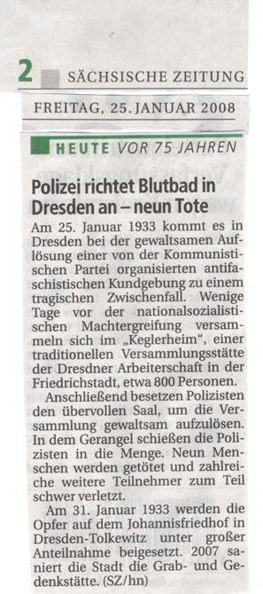 Polizisten richten Blutbad in Dresden an