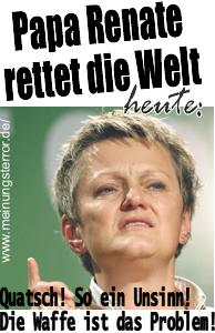 Papa Renate rettet die Welt: Frau Künast von den Grünen ignoriert Bürgeranfragen